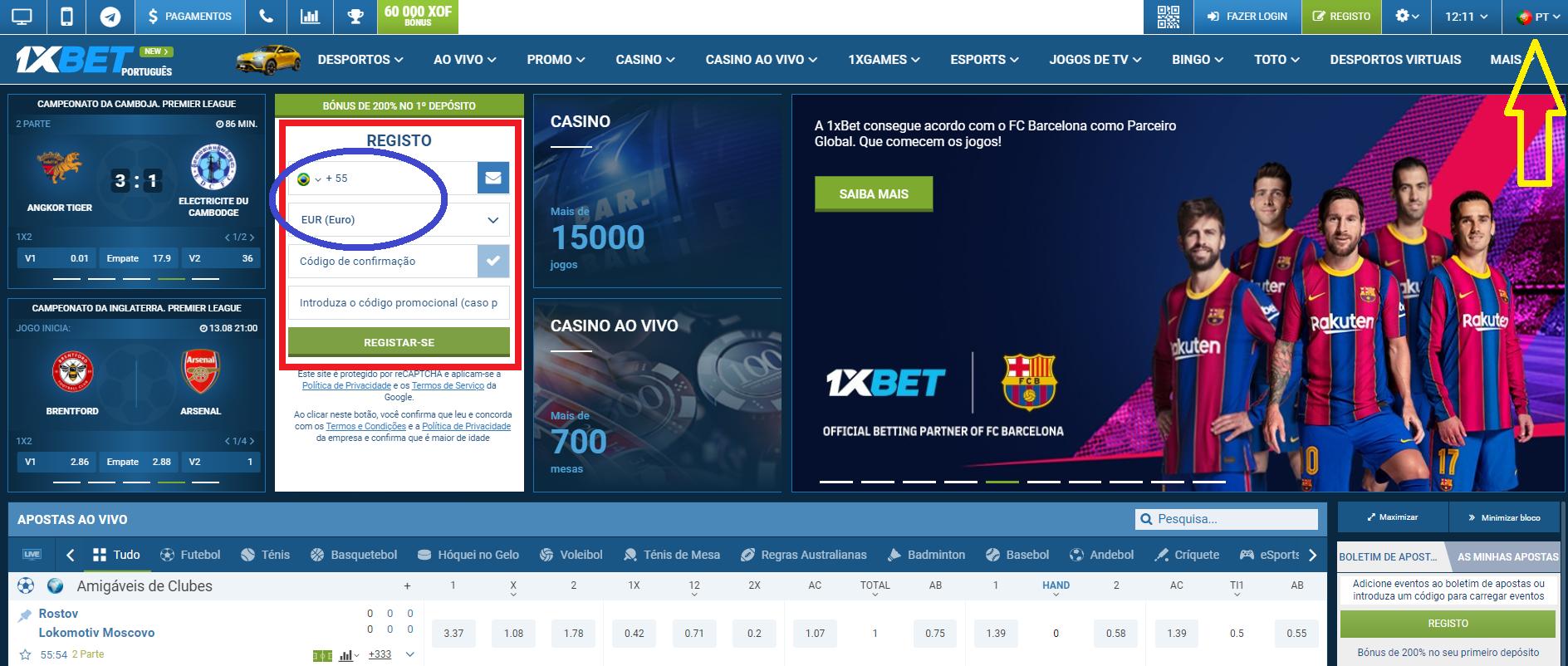1xBet app download de Portugal